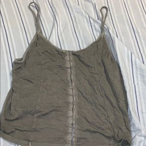 American Eagle soft n sexy olive tank